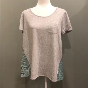 Style & Co Two Toned Pocket T-shirt